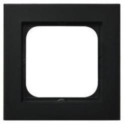 Ramka pojedyncza czarny SONATA Ospel metalik pozioma i pionowa R-1R/33