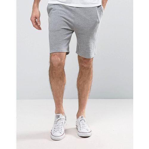 Pozostała odzież męska, ASOS Skinny Shorts With White Piping - Grey