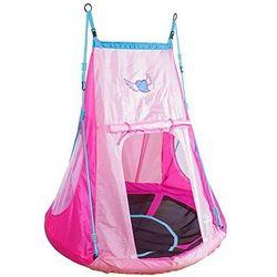 Huśtawka bocianie gniazdo z namiotem Heart- pełne siedzisko HUDORA 110 cm dla dzieci