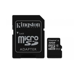 Kingston Karta pamięci Kingston microSDHC Canvas Select 32GB UHS-I Class 10 + adapter