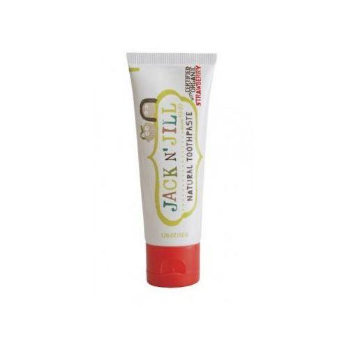 Pasty do zębów dla dzieci, JACK N JILL 50g Naturalna Pasta do zębów Organiczna truskawka i ksylitol
