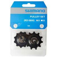 Pozostałe części rowerowe, Shimano 105 Kółka przerzutki do 11-rzędowe RD-5800-SS, black 2020 Akcesoria do napędu Przy złożeniu zamówienia do godziny 16 ( od Pon. do Pt., wszystkie metody płatności z wyjątkiem przelewu bankowego), wysyłka odbędzie się tego samego dnia.