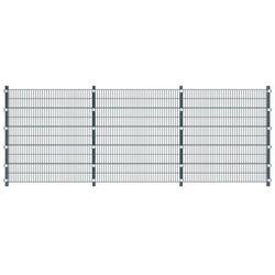 Panel ogrodzeniowy 6 m ze słupkami 2 m, szary antracyt