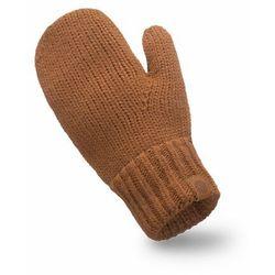 Rękawiczki damskie w kolorze karmelowym - PaMaMi