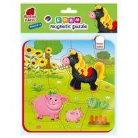 Puzzle, Puzzle magnetyczne z pianki koń i świnia rk5010-08