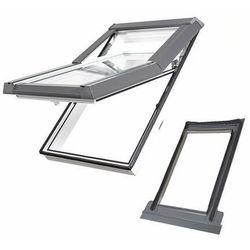Okno dachowe DOBROPLAST Skylight Premium 78x118 białe + kołnierz falisty zestaw