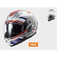 Kaski motocyklowe, KASK MOTO LS2FF900 VALIANT II REVO WHITE RED BLUE nowość 2021 roku
