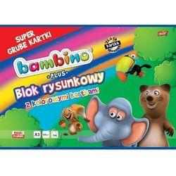 Blok rysunkowy A3+/16 kartek z kolorowymi kartkami Bambino - St. Majewski