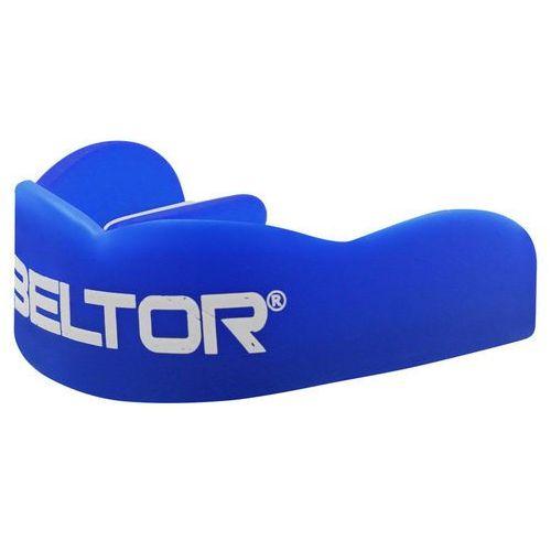 Ochraniacze i kaski do sportów walki, Ochraniacz szczęki Beltor niebiesko-biały