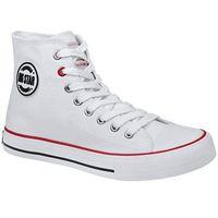 Damskie obuwie sportowe, Kultowe Trampki BIG STAR T274026 Białe - Biały