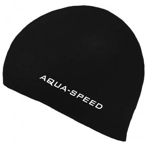 Czepki, Czepek pływacki silikonowy Aqua Speed 3D czarny