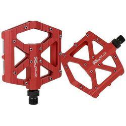 Pedały aluminiowe z pinami XLC PM-M12 BMX, Freeride czerwone