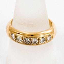 Złoty pierścionek z diamentami P1540
