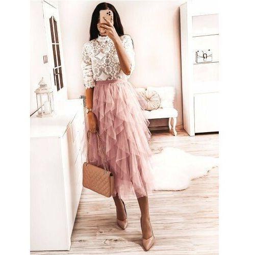 Spódnice, Spódnica Tiulowa - Różowy