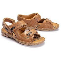 KRISBUT 1099-3-9 beżowy, sandały męskie