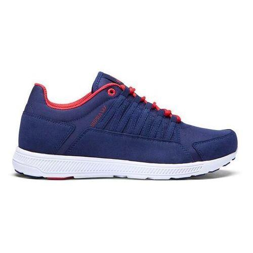 Męskie obuwie sportowe, buty SUPRA - Owen Navy/Red-Off White (NVY)