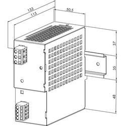 Zasilacz na szynę DIN WAGO 787-611, 12 V/DC (SELV), 4 A, 48 W