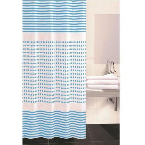 4home Koopman zasłona prysznicowa darja niebieski, 180 x 180 cm