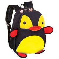 Tornistry i plecaki szkolne, Plecak neoprenowy pingwin czarny - Spokey