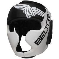 Ochraniacze i kaski do sportów walki, Beltor kask sparingowy Top Pro czarno-biały
