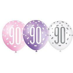 Balony lateksowe pastelowe 90 - 30 cm - 6 szt.