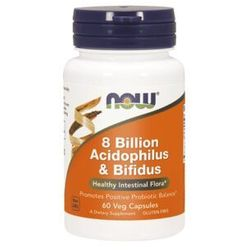 Now Foods 8 Billion Acidophilus & Bifidus - 60 kaps