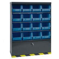 Szafki warsztatowe, Szafki z plastikowymi pojemnikami i szufladą, 16 boksów