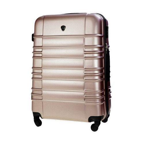 Torby i walizki, Walizka kabinowa abs 55x37x24cm stl838 champagne