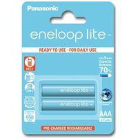 Akumulatorki, 2 x akumulatorki Panasonic Eneloop Lite R03 AAA 550mAh BK-4LCCE/2BE (blister)