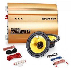 """Auna 2.0 samochodowy zestaw Hifi """"Golden Race V2"""" - 6,5"""" głośnik & wzmacniacz"""
