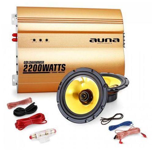 """Wzmacniacze samochodowe, Auna 2.0 samochodowy zestaw Hifi """"Golden Race V2"""" - 6,5"""" głośnik & wzmacniacz"""