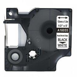 Rurka termokurczliwa DYMO Rhino 18055 12mm x 1.5m ø 3.0mm-5.1mm biała czarny nadruk S0718300 - zamiennik | OSZCZĘDZAJ DO 80% -