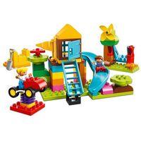 Klocki dla dzieci, Lego DUPLO Duży plac zabaw large playground brick box 10864