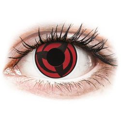 Soczewki kolorowe czerwone KAKASHI Crazy Lens 2 szt.