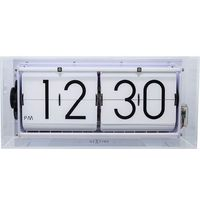 Zegary, Zegar klapkowy stołowy, ścienny Big Flip Clear transparentny by Nextime