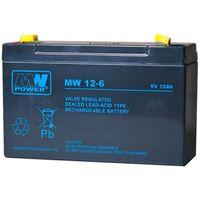 Akumulatorki, Akumulator żelowy 6,0V/12Ah MW Pb 151x50x100mm