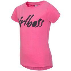T-shirt dla małych dziewczynek JTSD100 - neonowy róż