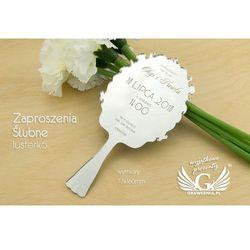 Zaproszenia ślubne - lusterko - grawerowane laserem - ZAP037