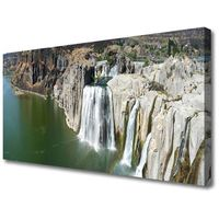 Obrazy, Obraz na Płótnie Wodospad Jezioro Krajobraz