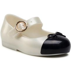 Półbuty MELISSA - Mini Melissa Sweet Love Cap To 33258 Pearly White/Black 53887