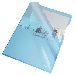 Ofertówka krystaliczna L Esselte 55435 A4/25szt.,150mic. niebieska
