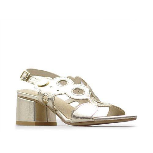 Sandały damskie, Sandały CheBello 2080 Złote krzyształki