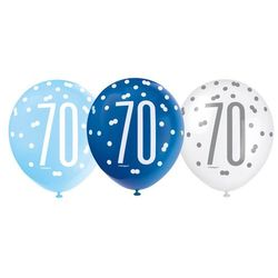 Balony lateksowe pastelowe 70 - 30 cm - 6 szt.