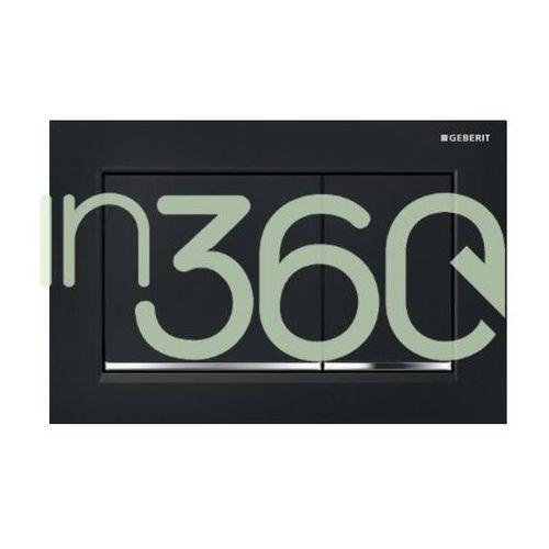 Geberit Omega30 Przycisk uruchamiający przedni/górny błyszczący czarny//chrom 115.080.KM.1