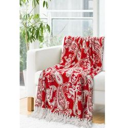 Koce Eurofirany JANET RED 150x200 cm kolor czerwony