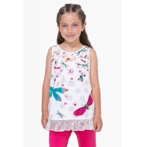 Podkoszulki dziecięce, Desigual podkoszulek dziewczęcy Arizona 128 biały