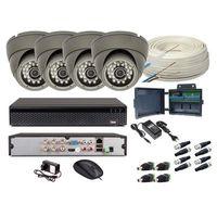 Zestawy monitoringowe, Zestaw monitoring 4 kamery HD + Zasilanie + Akcesoria + Przewód