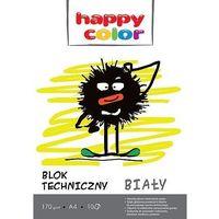 Bloki, Blok techniczny - Happy Color A4 170g 10k. biały 20szt