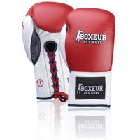 Rękawice do walki, Rękawice bokserskie BOXEUR BXT-5204 (10 oz) Czerwono-biały