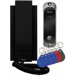 Zestaw domofonowy Orno Avior OR-DOM-JA-928/B jednorodzinny z interkomem i czytnikiem breloków zbliżeniowych, czarny
